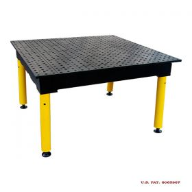 BuildPRO Welding Tables MAX Table; 4 ft x 4 ft - Nitrided, with Adj. Round Legs & Casters TMQRC54848F