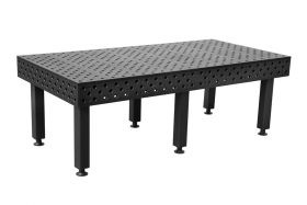 BuildPRO Welding Tables 2.4 x 1.2 Meter Table + Height Adj. Leg with Caster and Locking Brake, 550 - 750 mm T28-2412FQ-C1