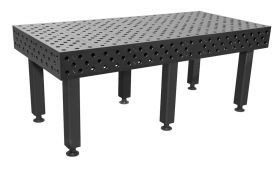 BuildPRO Welding Tables 2.1 x 1.0 Meter Table + Height Adj. Leg with Caster and Locking Brake, 550 - 750 mm T28-2110FQ-C1