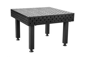 BuildPRO Welding Tables 1.2 x 1.2 Meter Table + Height Adj. Leg with Caster and Locking Brake, 550 - 750 mm T28-1212FQ-C1