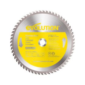 Evolution Power Tools 12 In. Stainless x 80T x 1 In. Arbor 12BLADESSN