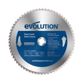 Evolution Power Tools 12 In. Steel x 60T x 1 In. Arbor 12BLADEST