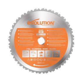 Evolution Power Tools 10 In. Multipurpose x 28T x 1 In. Arbor RAGE255BLADE