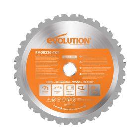 Evolution Power Tools 9 In. Multipurpose x 26T x 1 In. Arbor RAGE230BLADE