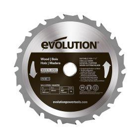 Evolution Power Tools 7 1/4 In. Wood x 18T x 20mm Arbor 185BLADEWD