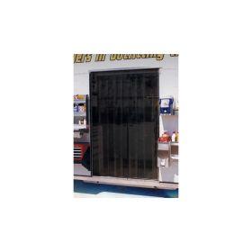 PitPal 5 ft.x 7 ft. Dark Amber Tinted Vinyl Strip Door TVS5X7